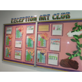 Reception Art club display