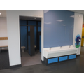 Toilets and sinks in reception