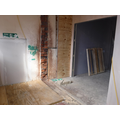 Corridor from current building leading into new