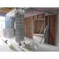 Office area-between brick pillars -reception desk