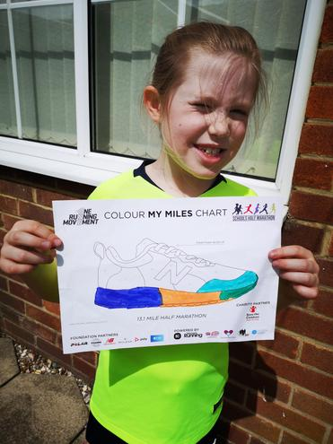 Isabelle the half marathon runner!