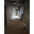 Corridor down to Y1 and Reception
