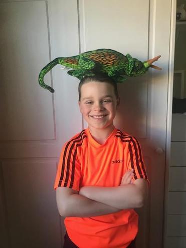 Interesting hat Lewis!