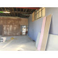 Small hall has been plastered