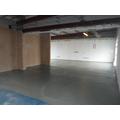 Concrete floor been done in Reception
