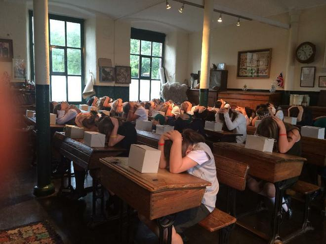 Year 6 at Armley Mills - World War Two classroom