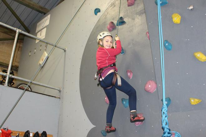 Year 4 enjoy climbing challenges.