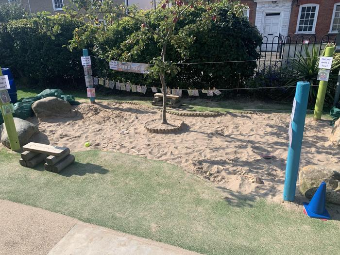 The children have been enjoying our improved sand area