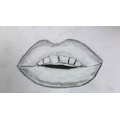 Harriet P - Drawing - Lips