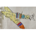 Zara coloured this Spitfire