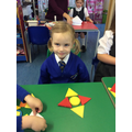We made pictures with shapes.