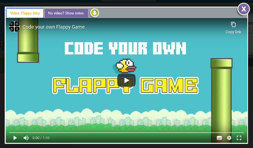 Flappy Code Link