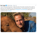 Ben Fogle - live every day - 4pm - join him!
