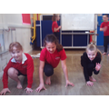 Groups worked to put poses and movements together.