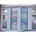 Draw/paint a rainbow and place it in your window.