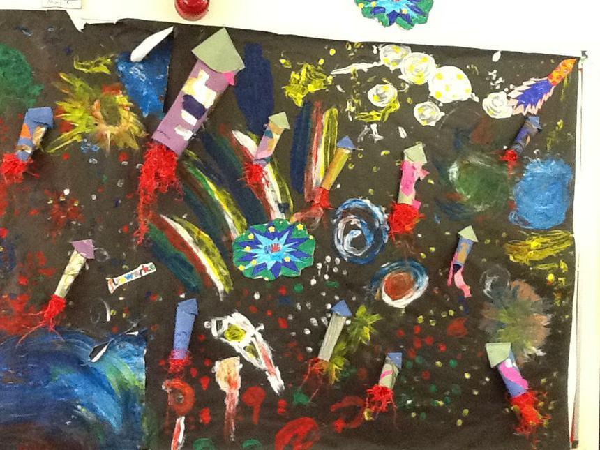 Beautiful Fireworks display - Beatrix Potter class
