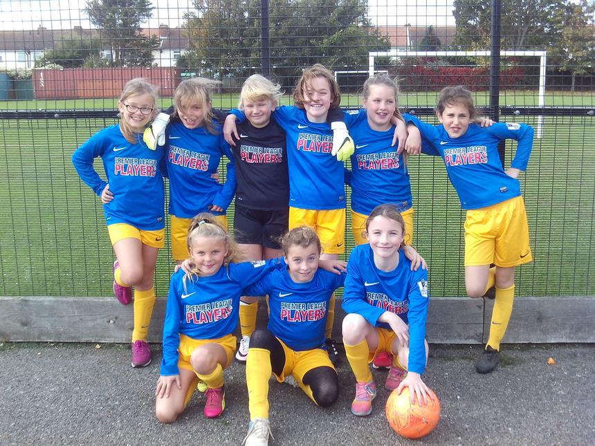 Year 5/6 Girls Football Team - October 2017