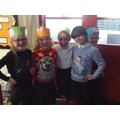 Look at our Christmas jumpers!