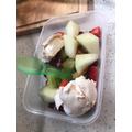 Macie's fruit and meringue salad