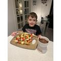 Noah's Funky Fruit Fondue