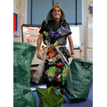 Mr Ken showed us the school's plastic waste...