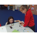 We used wires, motors, buzzers, bulbs and switches