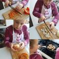 Preparing the ingredients.