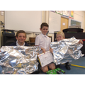Year 6 boys making the most of home learning club!