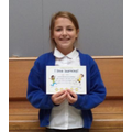 Well done to Effie (6)   (Class 5 will have two awards next Friday)