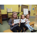 Well done to Willow (R), Beau (1) and Amelia (2)