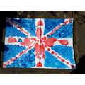 Nathaniel's VE day flag art