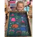 Mia's sponge painting