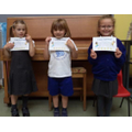 Well done to Lilly (R), Lochie (1) & Mia (2)