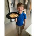 Brandon made pizza