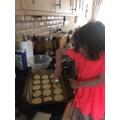 Anja baked cookies