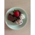Alisha's homemade brownie