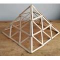 Daisy's brilliant lolly stick pyramid.