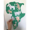 Zack's Kenyan animal drawings