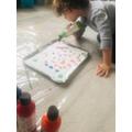 Jenson's marble foam painting