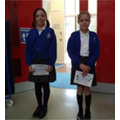 Well done to Lucy (6) & Sophia (5)