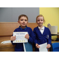 Well done to Ayla (3) & Jack (4)