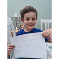 Nathaniel learning French colours