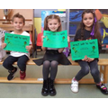 Well done to Noah (R), Maddie (1) & Alisha (2)