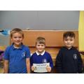 Well done to Freddie (R), Mason (1), Jackson (2)