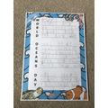 Zack's ocean acrostic poem