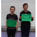 Well done to Toby (5) & Cian (6)