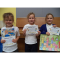Well done to Poppy (R), Autumn (1) & Brooke (2)