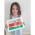 Lena's Kenyan flag