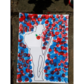 Nathaniel's VE Day soldier art