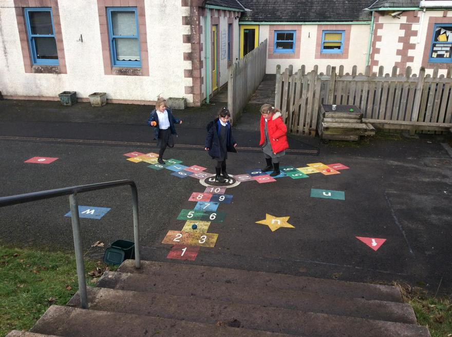 Using our new playground markings